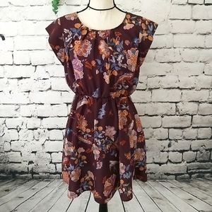 Sweet Rain Floral Cap Sleeve Dress M